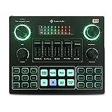 Mixer Audio Professionale Dal Vivo Cambia Voce Mini Scheda Audio Esterna Controller DJ Attrezzatura Microfono Da 3,5 Mm Trasmissione in Diretta Adattatore Audio Bluetooth Per PC in Streaming Live