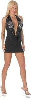 Inc Women's Sexy Plunging Rhinestones Black Dress