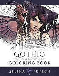 Gothic Coloring Book adult coloring book by Selina Fenech