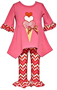 valentines day heart ice cream outfit for girls