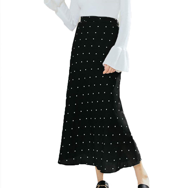 [美しいです]Aラインスカート ハイウェスト ドット タイトスカート マーメイドスカート ロングスカート