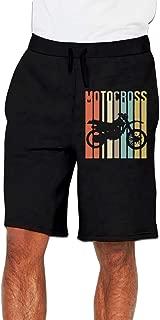 Vintage Motocross Dirt Bike Silhouette Pants Men's Jogger Pants Shorts Sweatpants