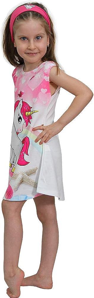 spiaggia motivo: Parigi Vestito estivo da bambina con unicorno Pegasus Minilady