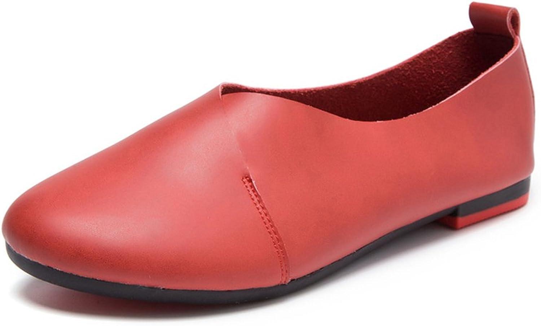 Xiaoyang Womens Round Toe Ballet Flats Ballerina shoes