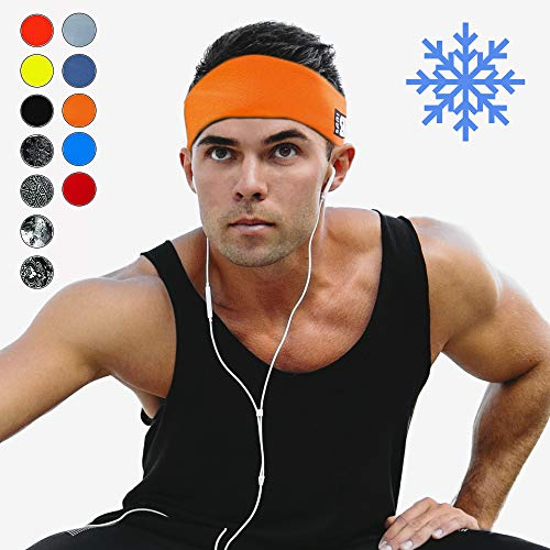Cooling Headbands for Women & Men   Moisture Wicking Sweatband & Sports Headband   Stay Cool During Workouts Cycling Cardio Running Yoga   Headband for Under Helmets & Hats   CoolCore Technology