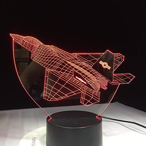 3D Nachtlicht Illusion Flugzeug Luft Nachtlampe USB LED Farbwechsel Geburtstagsfeier Atmosphäre Lampe Geschenk Touch Control