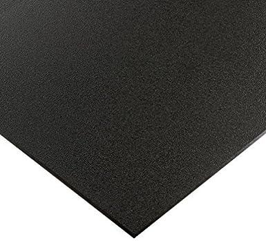 "Black Marine Board HDPE Polyethylene Plastic Sheet 1//4/"" x 11/"" x 24/""  Textured"