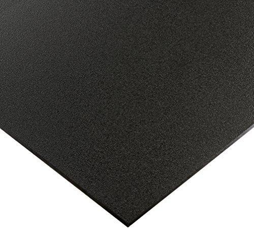 "Utility Grade Marine Board HDPE (High Density polyethylene) Plastic Sheet 3/4"" x 12"" x 12"" Black Color Textured"