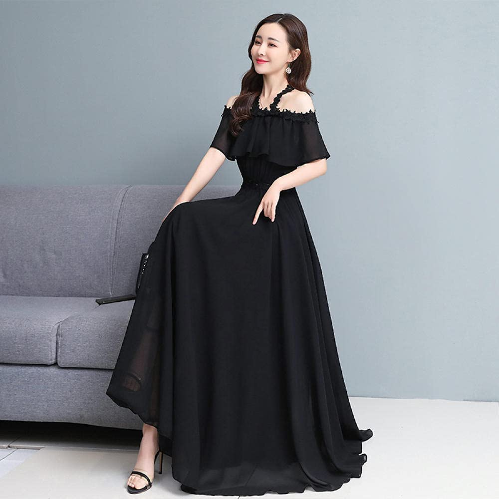 Popular brand in Shipping included the world XFYS Sexy nose hanging strap chiffon dress beach sk long seaside