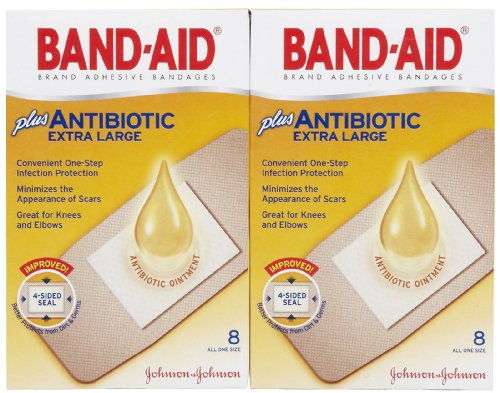 Band-Aid Antibiotic Waterproof Adhe…