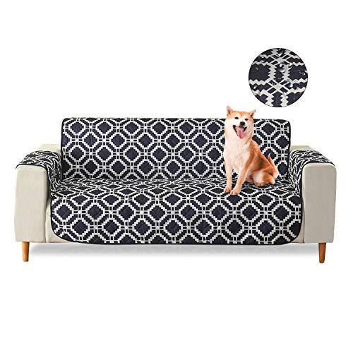 PETCUTE Fundas para Sofa Impermeables Cubre Sofas 3 plazas Sofa Fundas para Mascotas Negro