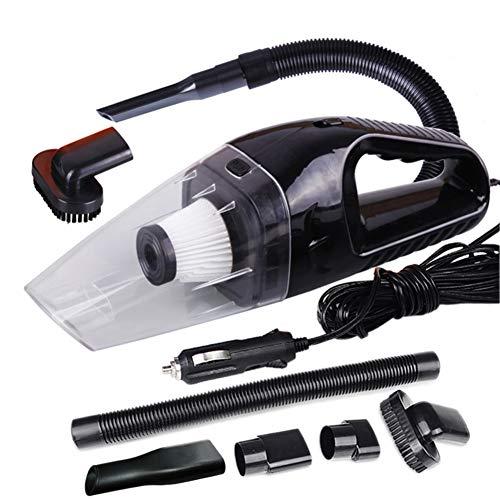 Générique Aspirateur Voiture 12V Humide et Sec Haute Puissance 120 Watts aspirateur à Main Forte Aspiration Noir