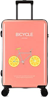 New Fashion 360° Spinner Wheels Suitcase,Cute Luggage Tags for Kids Women Girls Travel Baggage,Pink,18inch