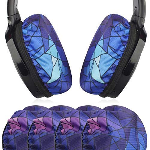 Geekria 2Pairs Elásticas Auriculares Tapas, Reemplazo Lavable Fundas de Almohadillas, Fits 3.14-4.33 Inches Over-Ear Headset Ear Cushions