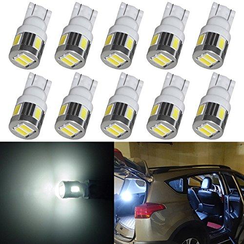 TABEN 194 Blanc LED lumière 12V intérieur de Voiture T10 5730 puces LED Remplacement lumière W5W 168 2825 Carte dôme courtoisie Plaque d'immatriculation Tableau de Bord Tableau de Bord côté lumière