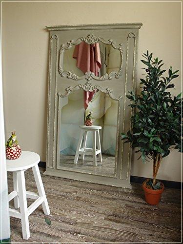 Großer Wandspiegel mit barocker Verzierung