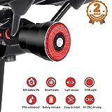 EBUYFIRE Feu arrière de vélo Intelligents, Induction de Freinage USB Rechargeable,IPx6 Etanche,Eclairage vélo Arrêt de démarrage Automatique,4 Modes LED lumière arrière