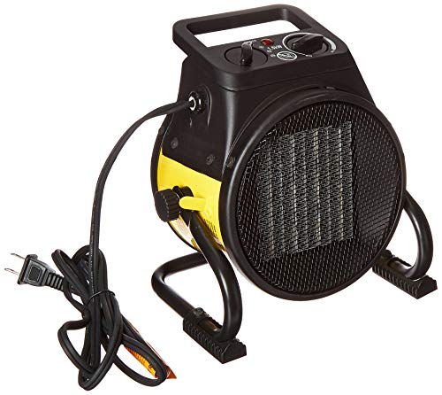 Dura Heat EUH1465 Pivoting Base 5,120 BTU Electric Forced Air Heater, Yellow Electric heaters Space