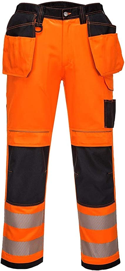 Portwest PW3 high-visibility waterproof lined winter trouser with braces #PW351