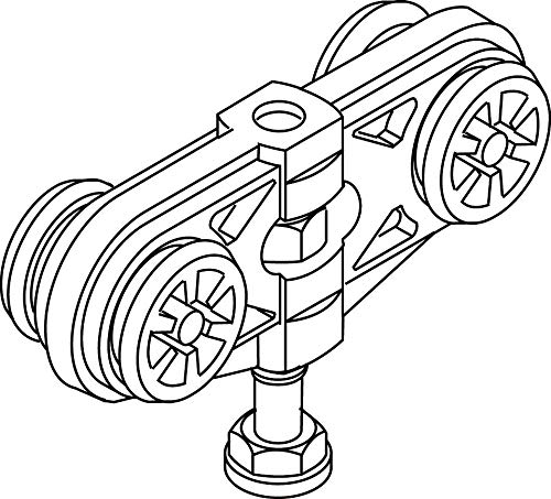 Geze Doppelrolle zu Rollan 80   Ausführung: Flügelgewicht 80 Kg
