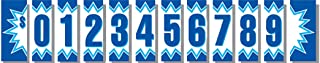 Ez-line 11 1/2 Inch Vinyl Number Decals for Car Lots Large 20 Dozen Windshield Pricing Stickers Dealer Pro Pack