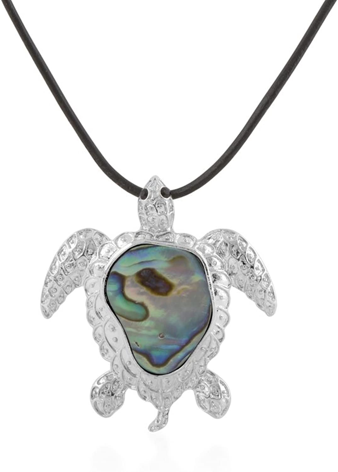 Abalone Tortle Pendant BPS 0179 Y  bluee Pearls
