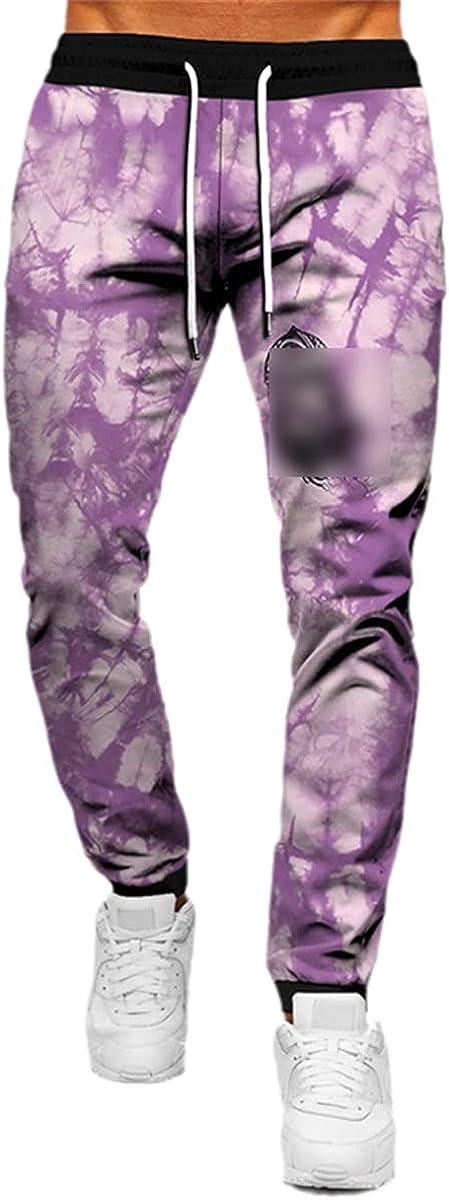 Faxkjeuls Unisex Street Casual Pants Sweatpants 3D Color Flower Sweatpants Men's and Women's Jogging Pants