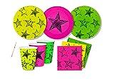 IRPot - Kit N 2 Coordinato Stelle Neon Party ADDOBBI Compleanno Festa Fluo Stars