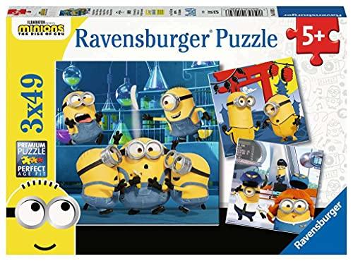 Ravensburger Puzzle, Minions, Puzzle 3x49 Piezas, Puzzles para Niños, Edad Recomendada 5+, Rompecabeza de Calidad