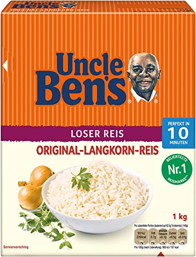 Uncle Ben's Original Langkorn Reis Lose 10-Minuten, 6 Packungen (6 x 1kg)