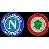 MAREL Patch Napoli + COCCARDA Coppa Italia Toppa Ricamata Ricamo termoadesiva -178 Replica