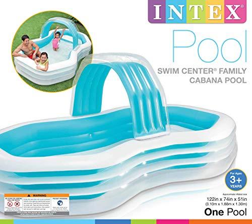 Intex Family Cabana Swim Center Pool, 122' x 74' x 51', for Ages 3+
