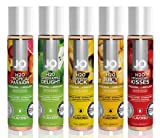 System Jo H2O 1oz Flavored Lubricant Collection - 5 Flavors - Tropical Passion, Green Apple Delight, Banana Lick, Juicy Pineapple, Strawberry Kisses