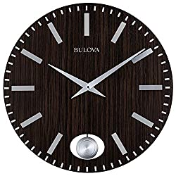 Bulova C4867 Manhattan Wall Clock, Dark Brown