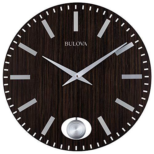 Bulova C4867 Manhattan Wall Clock, Dark Brown