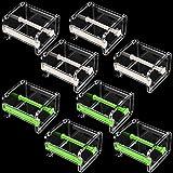 FAATCOI 8 Pack Washi Tape Dispenser Cutter, Transparent Visible Roll Masking Tape Holder Organizer for Art DIY Crafts Sticker, Beige and Green