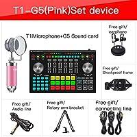 サウンドミキサーボード複数の効果音が付いているライブストリーミングボイスチェンジャーサウンドカードの特殊効果オーディオミキサー (Color : G5 WITH T1)