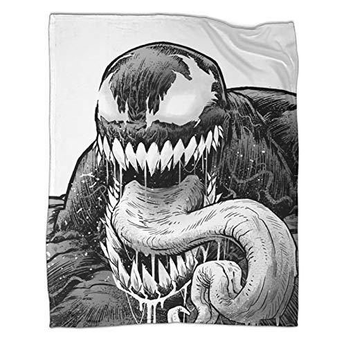 Xaviera Doherty Venom Superhero Spiderman Movie (4) doppelseitige Flanelldecke 150 x 200 cm weich und bequem Bettdecke, Kinderbettwäsche