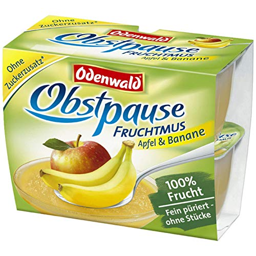 Odenwald Obstpause Apfel & Banane 4x 100g