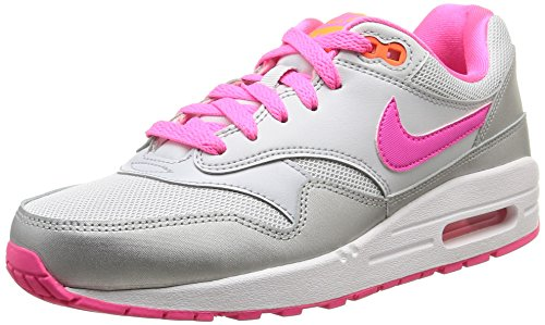 Nike Air Max 1 (GS) Grey/Pink/White 653653-005 Grey/Pink/White (Size: 6Y)
