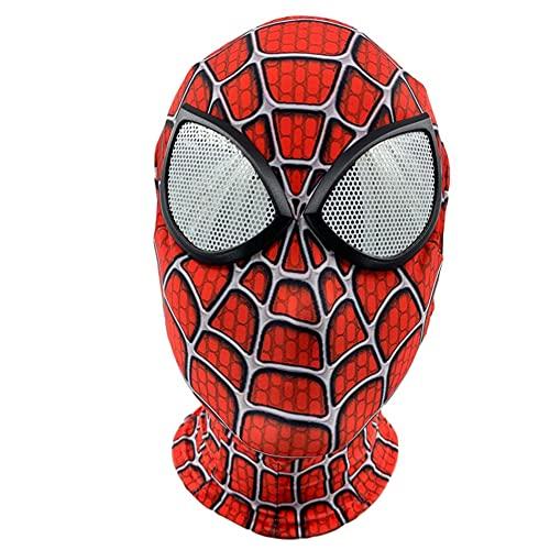 MIANslippers Spiderman 3D Movie Mask Disfraz Kids Lycra Spandex Cabeza Cubierta Superhroe Fiesta de Cumpleaos Cosplay Cosplay Game Jueces Juguetes Accesorios,Redwhite-Free Size