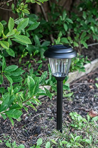 Grant Park 8-Pack Black Stainless Steel Bright LED Solar Lights for Outdoor Landscape Yard Pathway Garden Lighting