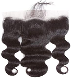 Lace Frontal Body Wave Closure Free Part 13x4 Ear To Ear Lace Frontal with Baby Hair,Brazilian Virgin Remy Human Hair Natural Color (8 Frontal)