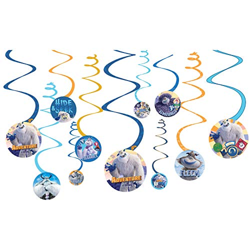 Disney SMALLFOOT Spiral Decorations 12 pack Birthday Party Supplies
