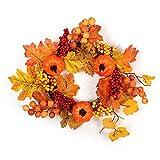 Herbst Kränze Herbstkranz Deko Kranz Mit Beeren Obst Herbstblätterkranz Deko Wandschmuck Tür- und...