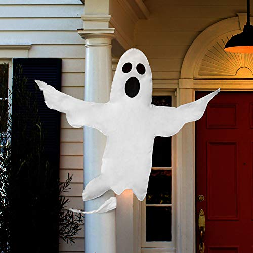 FINGOOO Halloween Ghost Hanging Decoration, Outdoor Party Haunted House