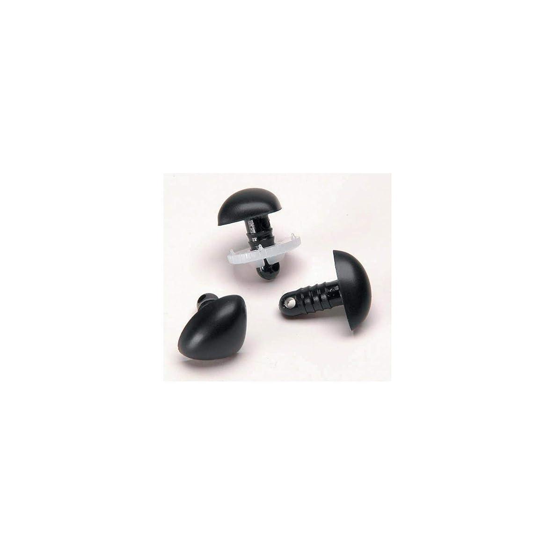 Bulk Buy: Darice DIY Crafts Animal Nose Black 18mm 6 pieces (6-Pack) 51018-09