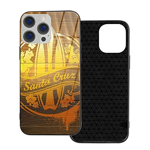 Estuche para teléfono Signo de Surf Estuche Personalizado TPU Suave + Contraportada de Vidrio Templado, Cubierta para teléfono a Prueba de Golpes para iPhone 12