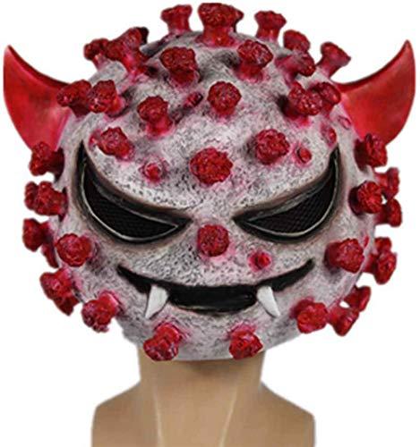 BENREN Halloween Latex Mask, Virus Horror Headdress Costume, Cosplay Masquerade Simulation Carnival,Virus a
