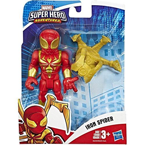 Hasbro Playskool - Heroes Mega Mighties Avengers Mini Marvel Super Hero Adventures-Iron Spider (Figura de acción de 12,5 cm), Multicolor, E6259ES0